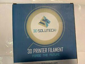 3D Solutech white 3D Printer 1.75MM Filament, Natural Clear