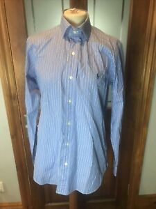 "Polo Ralph Lauren ""Regent"" Custom Fit Blue Stripe Dress Shirt 15.5''"