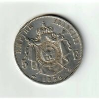5 francs 1856 A Napoléon III tête nue (602) -  F.330/6 / KM 782.1 - TTB++/pr.SUP