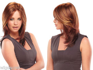 JuliaJon Julia Long Monofilament Jon Renau Straight Blonde Brunette Red Wigs