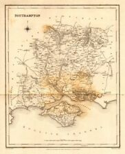 Antique county map of 'Southampton' (HAMPSHIRE). Walker, Creighton & Lewis c1840