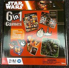 Disney Star Wars The Force Awakens 6-in-1 Game Games Collection Bingo Dominoes