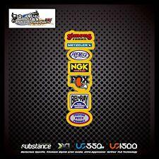 Metzeler NGK Fox Rear Fender Yellow Decal Sticker MX (546)