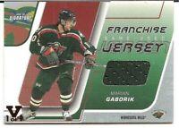 2002-03 Be A Player Signature Series Franchise Jersey Marian Gaborik Vault 1/1