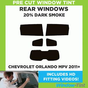 CHEVROLET ORLANDO MPV 2011+ 20% DARK REAR PRE CUT WINDOW TINT