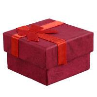 24 Stück Ring Ohrring Schmuck Display Geschenk Box Schleife Quadratisch Kas N2X5