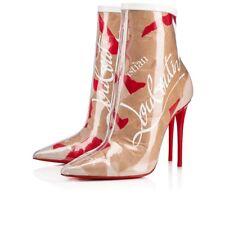 NIB Christian Louboutin So Kate Booty 100 Loubi Kraft PVC Heel Ankle Bootie 40