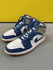 Nike Air Jordan 1 Mid Retro True Blue Mens Size Uk 9