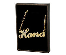 """Name Necklace """"HANA"""" - 18ct Gold Plated - Made With Personalized Gifts - Stylish"""