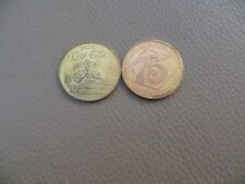 PAIR 2 DRINK COCA COLA gold token coin 75 ANNIVERSARY 1901-1976 LOUISVILLE KY