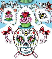 Sunny Buick Sassy Sweet Stinky Sugar Skull STICKER DECAL Die-Cut SET, Wall Glass