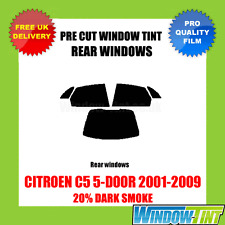 CITROEN C5 5-DOOR 2001-2009 20% DARK REAR PRE CUT WINDOW TINT