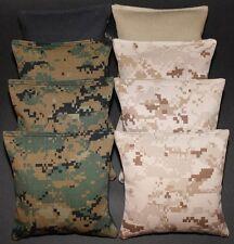 US ARMY MILITARY 8 CORNHOLE BEAN BAGS/ BAGGO TOSS GAME Top Quality Handmade!