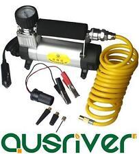 Portable In Car Air Compressor Gauge Bike Balls Tyre Inflator Dual Pressure Pump