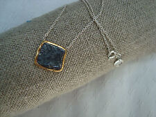 STERLING SILVER CHAIN NECKLACE with OLD COIN in GOLD PLATED STG SILVER
