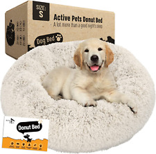New listing Active Pets Plush Calming Dog Bed, Donut Dog Bed for Small Dogs, Medium & Large,