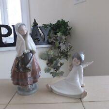 Lladro Festival Time # 5053 & Cherub Angel Wondering # 4962 Mint Fast Shipping!
