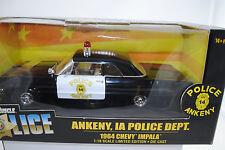 1:18 Ertl 1964 Chevy Impala Ankeny IA Police Dept. black Lmtd. Edt. Neu/OVP*