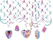 DOC MC STUFFINS HANGING SWIRL DECORATION birthday party supplies 12pcs Disney