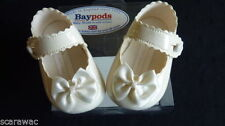Calzado patucos blancos para bebés