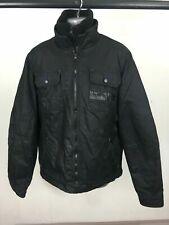 Men's Gio-Goi Black Cotton Double Zip Up Jacket Coat 5xPockets Size XL