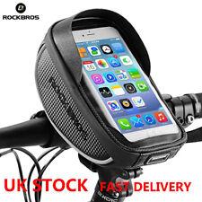 ROCKBROS Top Tube Bag Phone Case Pannier Waterproof For Phone Blew 6.0'' UK