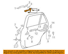 TOYOTA OEM Lock -Rear Door-Frame Left 6920460010