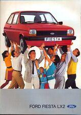 Ford fiesta LX2 Mk 1 1983 folleto de ventas de mercado sueco Original