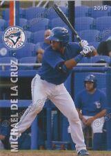2016 Dunedin Blue Jays Michael De La Cruz RC Rookie Toronto Minor