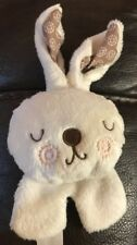 Fisher Price bunny baby car seat dangle toy rattle soft plush cream neutral