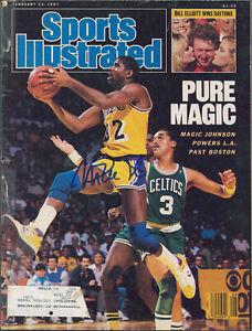 Lakers Magic Johnson Signed Feb 1987 Sports Illustrated Magazine BAS #MJ15323