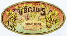 Verjus Imperial Raisins au vin, 1930, antique wine  bottle label #3