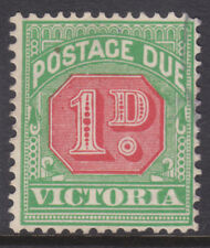 Victoria: 1d Postage Due Sg D26? Wmk V Ov Cr Inverted Perf 12.5 X 12.5 F.Used