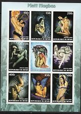 Erotic Art/Nude Paintings on Stamps - M/S imperf. MNH - (A203)