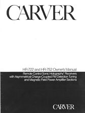Carver HR-722 Receiver Owners Manual
