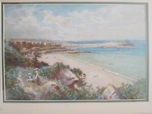 Ralph Erskine Fraser (1855-1922) Superb Watercolour Painting St Ives Cornwall