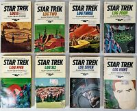 LOT OF 8 (1-8) VINTAGE STAR TREK LOG Paperback BOOKS 1970s Alan Dean Foster