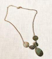 Premier Designs Opalescent Abalone Shell Pendant Necklace