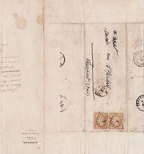 timbre non dentelé sur enveloppe - Napoléon III - 11/09/1860