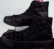 New Mens 10 CONVERSE CTAS HI Sir Tom Baker Black Animal Print Shoes 153037C