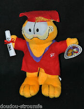 Peluche Doudou Garfield PLAY BY PLAY Diplome Toge Chapeau Rouge 24 Cm 100% NEUF