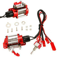 Electric Metal CNC Winch Set for Traxxas Axial D90 SCX10 II RC Car Crawler 1/10
