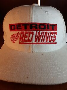 NHL Detroit Red Wings Adjustable Hat Logo Athletic Snap Back Made in Taiwan