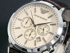 New Emporio Armani Classic AR2433 Wristwatch Warranty, Tags, booklet, RRP $449
