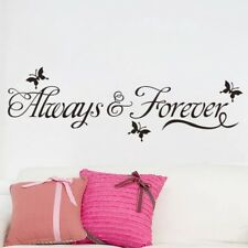 Bedroom Decor Always And Forever Decal Butterfly Removable Vinyl Wall Sticker