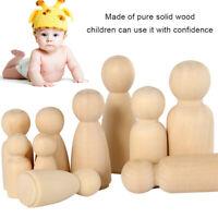50 DIY bois poupée famille inachevée artisanat homme femme mariage enfants