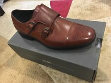 BNIB Boys 4 Stacy Adams Tan Cognac Double Monkstrap Shoe