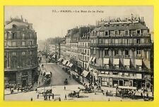 cpa Old Postcard FRANCE 75 - PARIS La Rue de la PAIX Animés Commerces pub