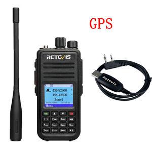 DMR GPS RetevisRT3S Dual Band Walkie Talkie  Digital/Analog Ham Radio 5W 2000mAh