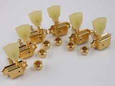 Kluson Tradicional 3+3 Crema Pearl Keystone Botón Línea Individual Dorado
